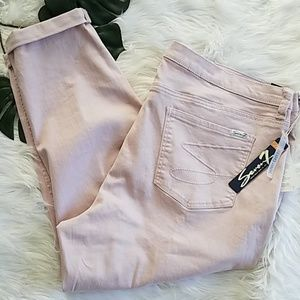 NWT Seven7 Pink Jeans Size 20 Skinny Easy Plus